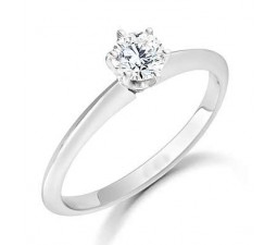 Round solitaire engagement ring with 1/3 carat diamond weight