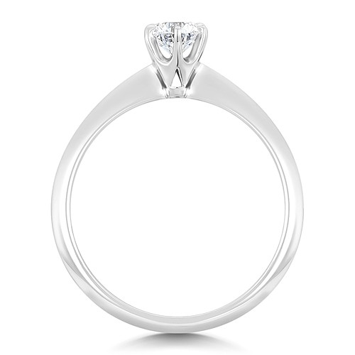 round solitaire engagement ring with 13 carat diamond weight