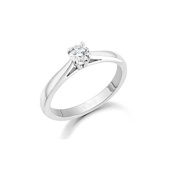 Gorgeous Cheap Solitaire Wedding Ring 0 25 Carat Round Cut Diamond on Gold