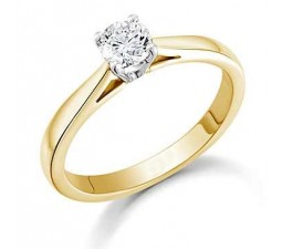 1/4 Carat Round diamond on 10k Yellow Gold
