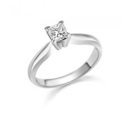 1/3 Carat Princess solitaire Engagement Ring