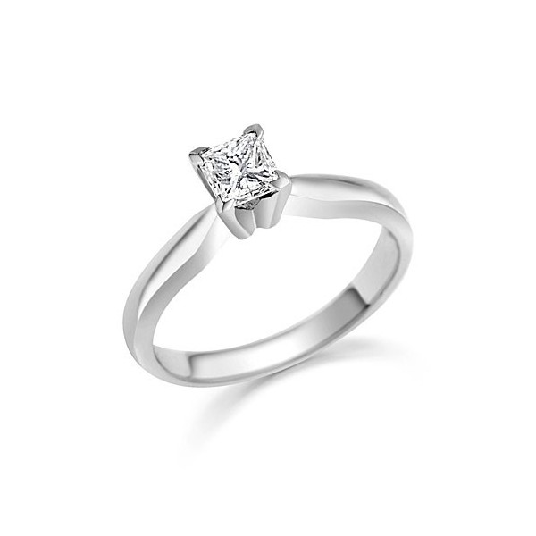 Tantalizing Cheap Solitaire Ring 033 Carat Princess Cut Diamond on