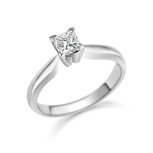 Tantalizing Cheap Solitaire Ring 0 33 Carat Princess Cut Diamond on Gold Je