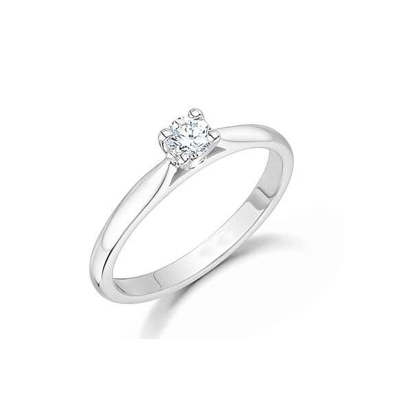 1/5 Carat Solitaire Round diamond engagement Ring