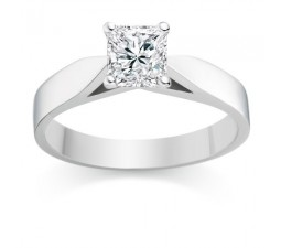 1/2 Carat Gia certified VS2 I Princess Solitaire Engagement Ring