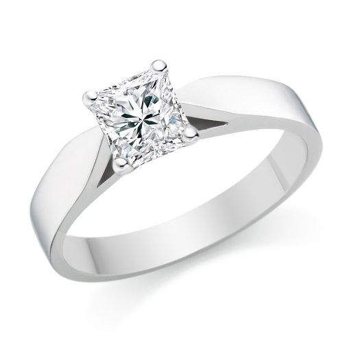 ... Rings  Elegant Cheap Solitaire Wedding Ring Half Carat Princess Cut