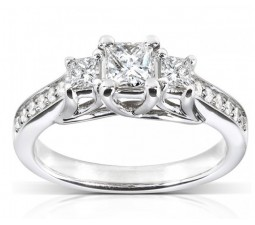 1 Carat Princess Diamond Engagement Ring