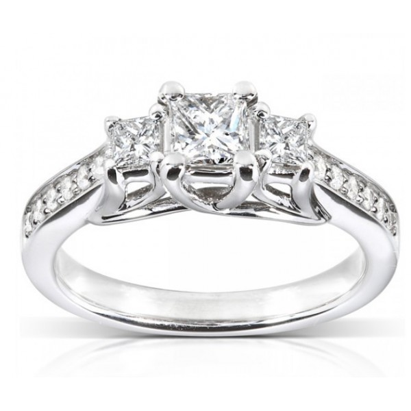 1 Carat Princess Diamond Engagement Ring