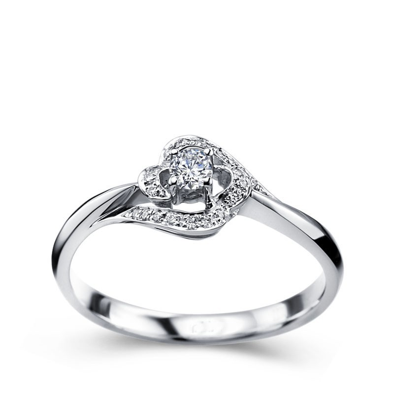 designer round solitaire diamond engagemennt ring - Woman Wedding Rings