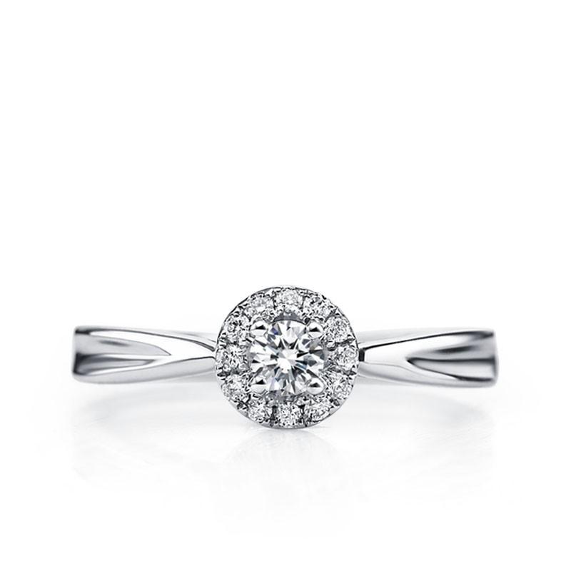 Enthralling Halo Diamond Wedding Ring 0.33 Carat Round Cut Diamond ... 3e6e35018