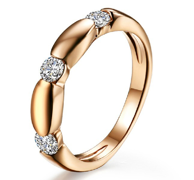 Diamond Wedding Band for Women in 10k Rose Gold JeenJewels