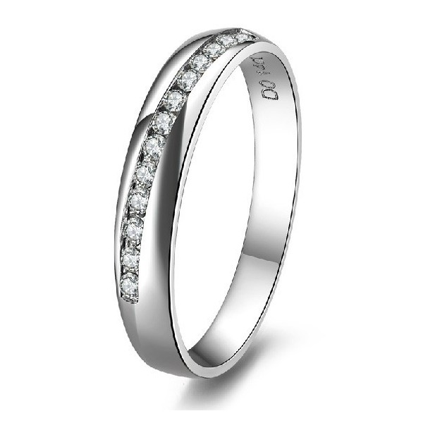 beautiful diamond wedding ring for her in white gold - Wedding Rings For Her
