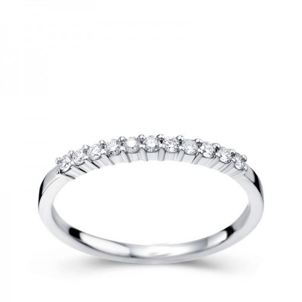 1/4 Carat Diamond Wedding Ring Band on white gold