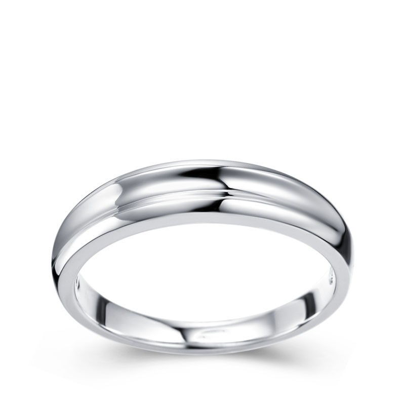 Mens Wedding Ring Band On White Gold
