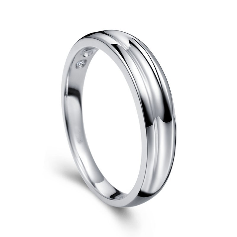 Mens wedding ring band on white gold jeenjewels for Wedding rings in white gold