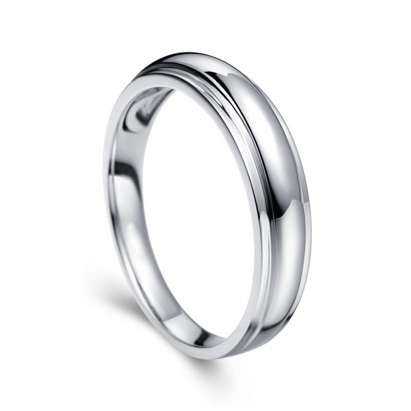 Bestselling Mens Wedding Ring Band In White Gold