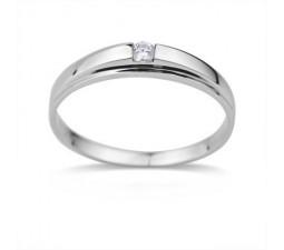 Sporty Men's Diamond Wedding Ring Band on Gold