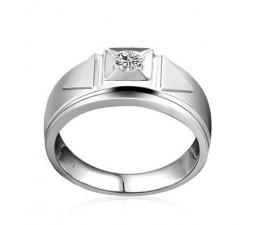 White Gold Diamond Wedding Ring Band for Men