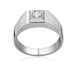 Bold Diamond Wedding Ring for Him on White Gold