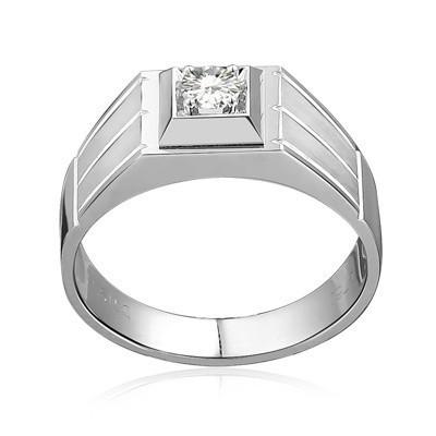 Bold Diamond Wedding Ring for Him on White Gold JeenJewels