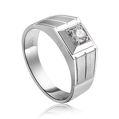 Attractive ... Bold Diamond Wedding Ring For Him On White Gold Amazing Design