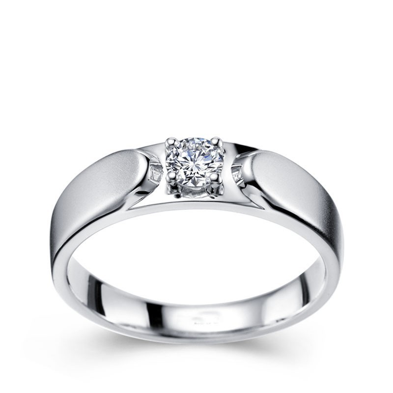 mens diamond wedding ring band in white gold - Diamond Wedding Rings For Men