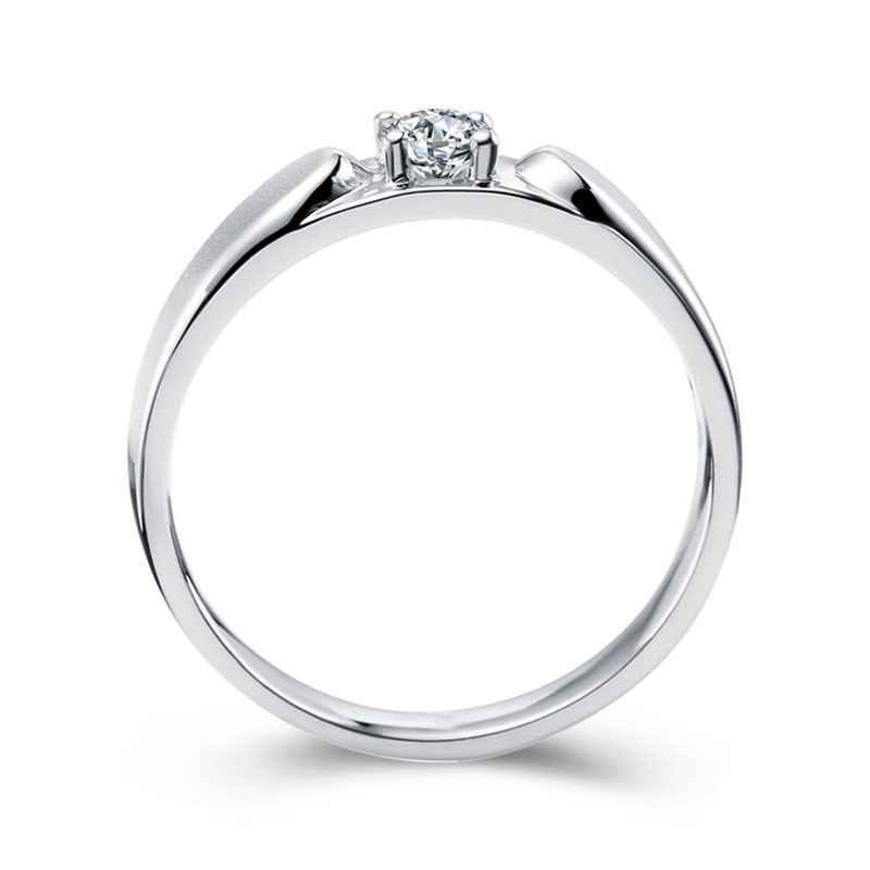 Mens Diamond Wedding Ring Band In White Gold