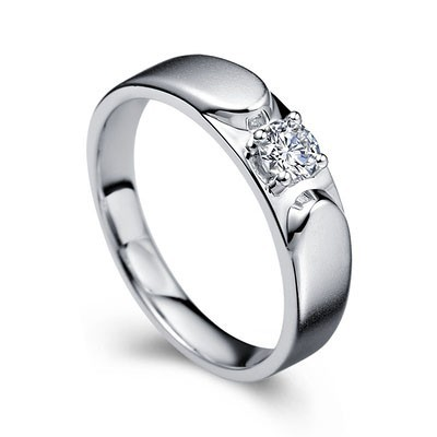 Men s Diamond Wedding Ring Band in White Gold JeenJewels