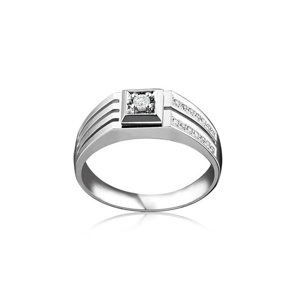 luxurious mens diamond engagement ring on white gold - Mens Diamond Wedding Rings