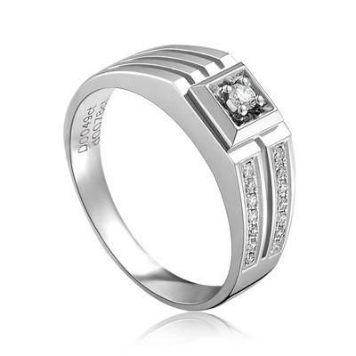 ... Luxurious Mens Diamond Engagement Ring on White Gold