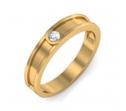 Round Diamond Wedding Ring band for Him