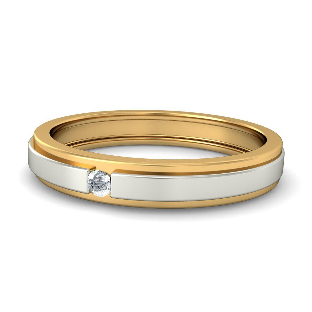 polished ring edges with comfort tungsten mens edge two rose wedding flat silver gold bands beveled tone top fit