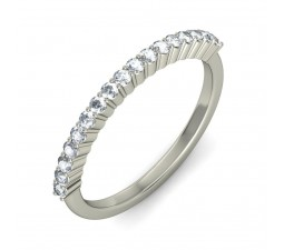 Beautiful luxurious Comfort fit Diamond Wedding Band in White Gold