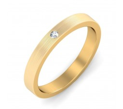 Mens Diamond Wedding Ring Band in Yellow Gold