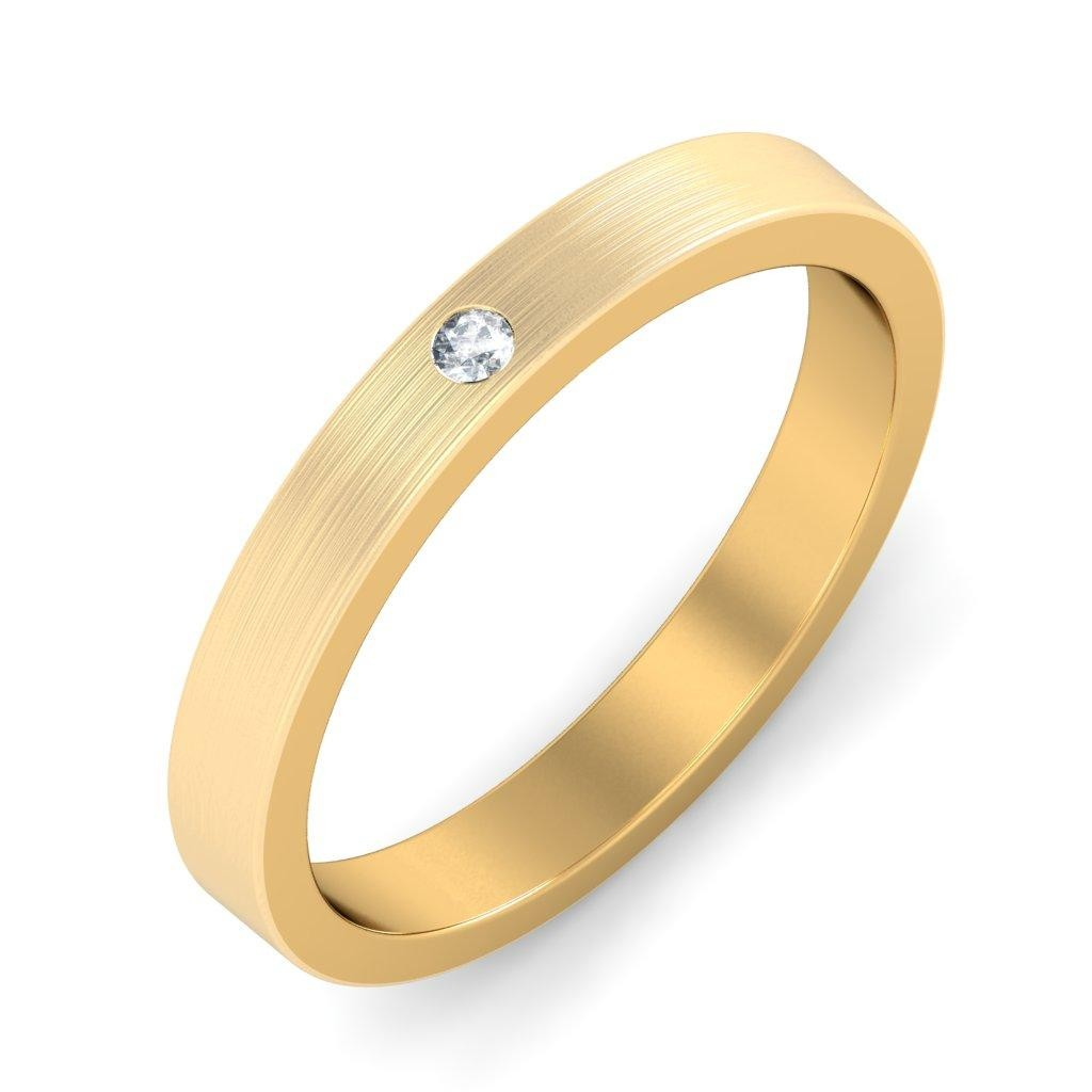mens diamond wedding ring band in yellow gold - jeenjewels
