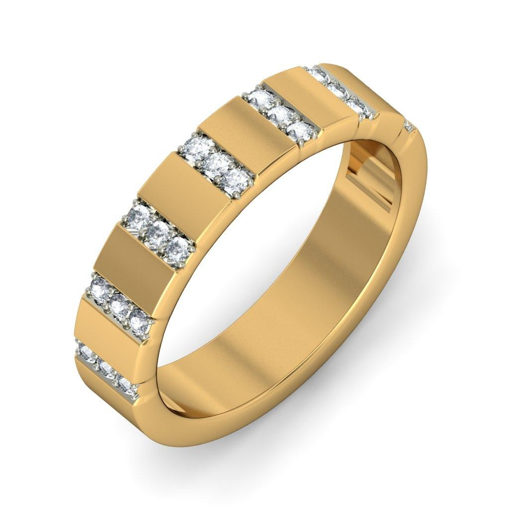 Unique Luxurious Diamond Wedding Ring Band for Her JeenJewels