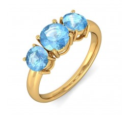3 Carat Topaz Ring in Yellow Gold