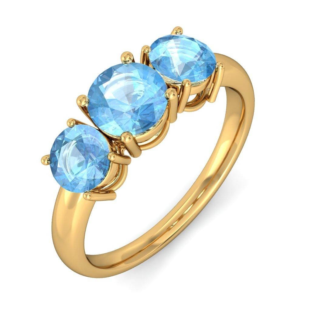 rings gold blue white cut diamond topaz cushion and ring