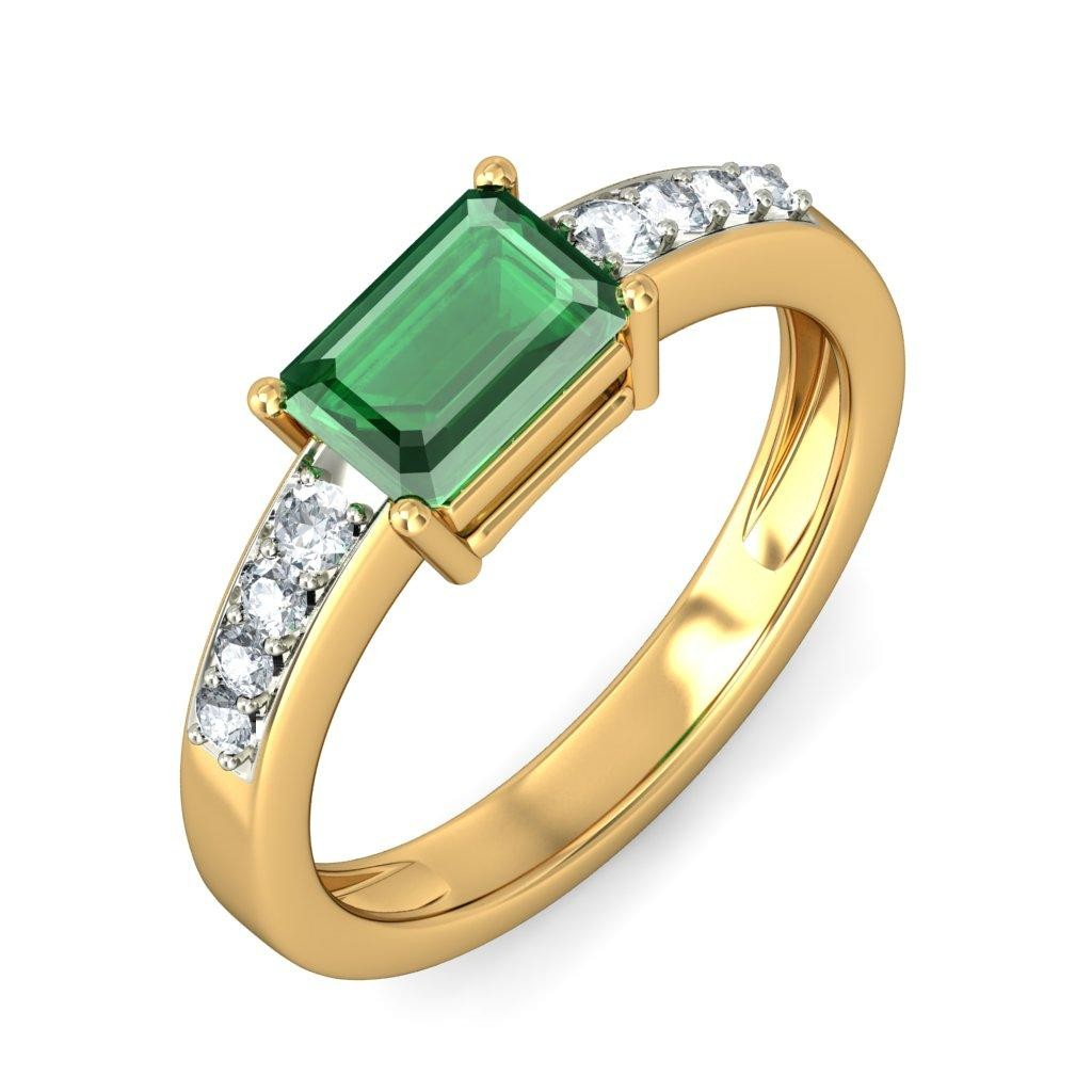 150 carat emerald and diamond engagement ring in white for Emerald and diamond wedding ring