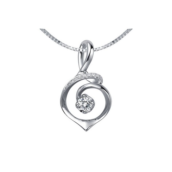 Circle shape diamond pendant on 9ct white gold jeenjewels 12 carat diamond circle shape pendant on 14k white gold mozeypictures