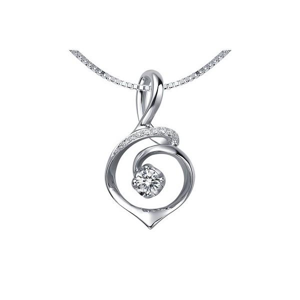 Circle shape diamond pendant on 10k white gold jeenjewels 12 carat diamond circle shape pendant on 14k white gold aloadofball Images
