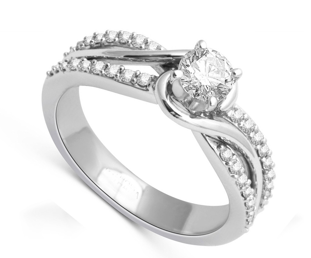 Elegant Inexpensive Engagement Ring 1.00 Carat Round Cut ...