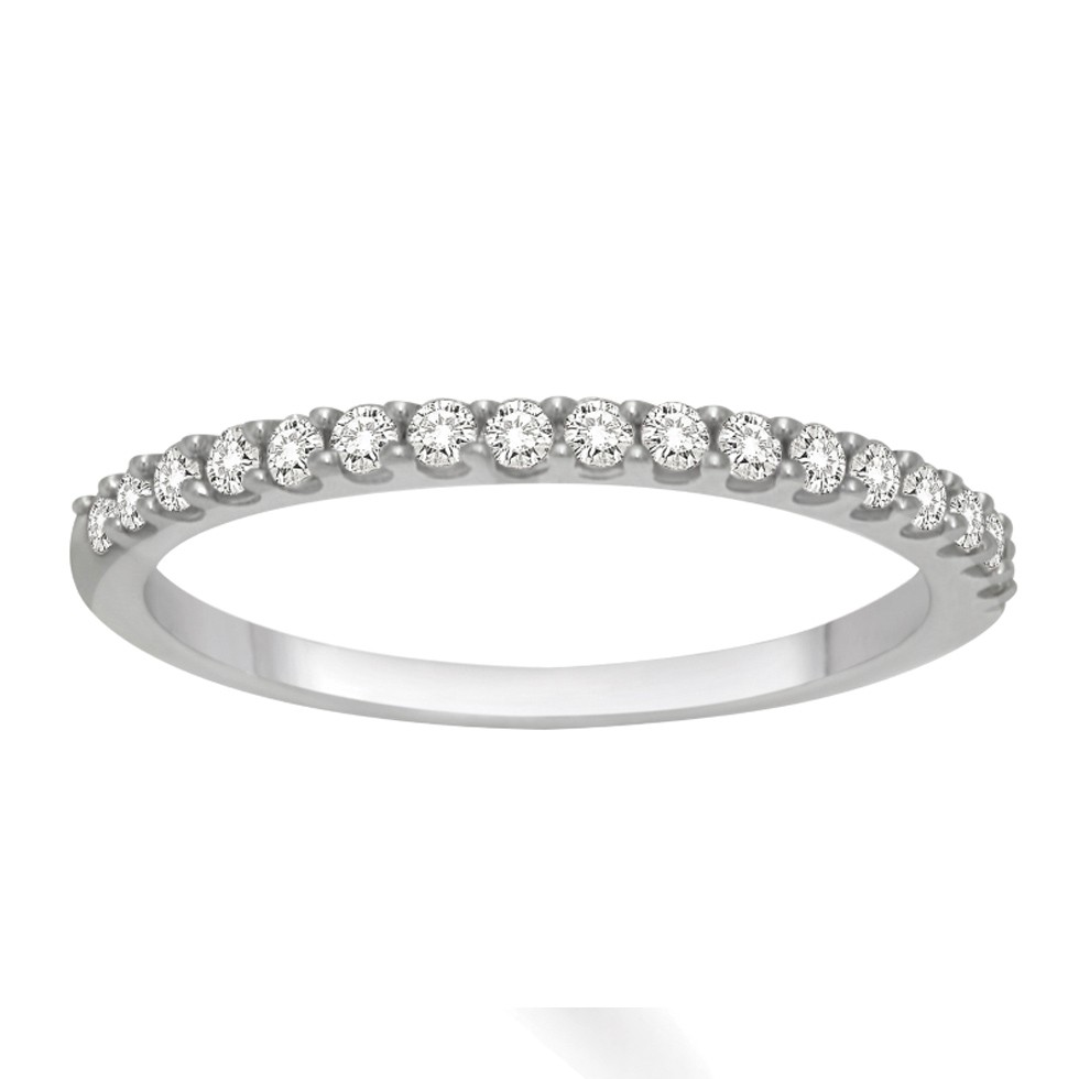 Superbe Affordable Diamond Wedding Band For Her In White Gold.