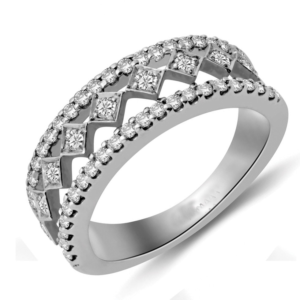 Beautiful Diamond Bands: Beautiful Round Diamond Wedding Band For Her