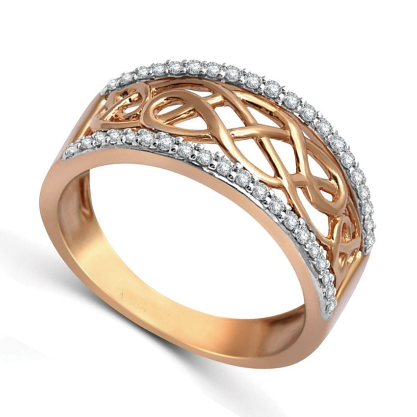 designer rose gold diamond wedding band ring for women jeenjewels. Black Bedroom Furniture Sets. Home Design Ideas