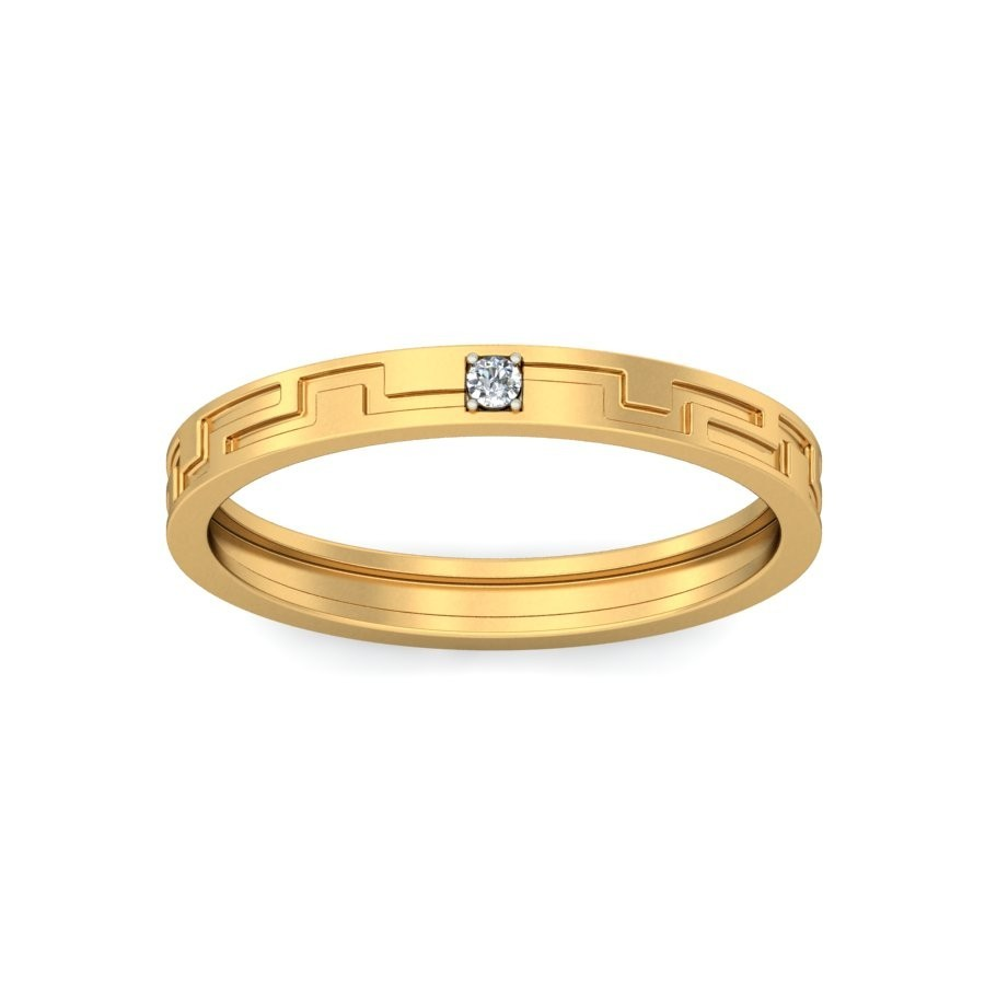designer diamond wedding ring band unisex in yellow