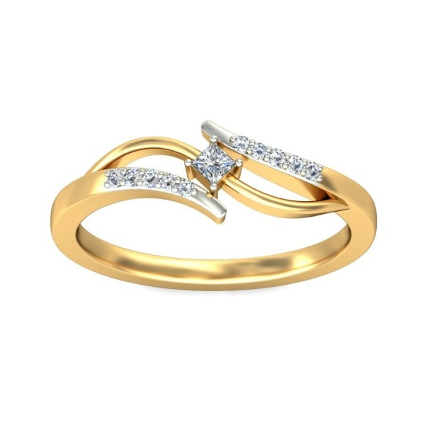 Luscious Inexpensive Engagement Ring 0 25 Carat Princess Cut Diamond on Yello