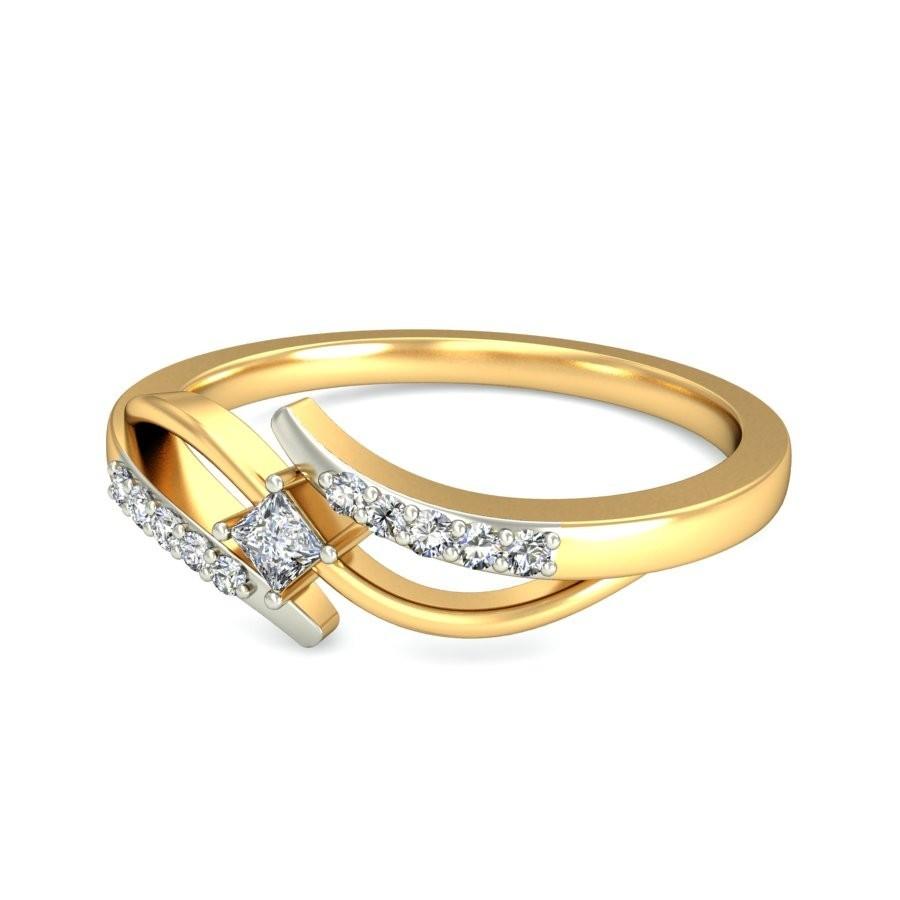 inexpensive engagement ring carat princess cut diamond on yellow