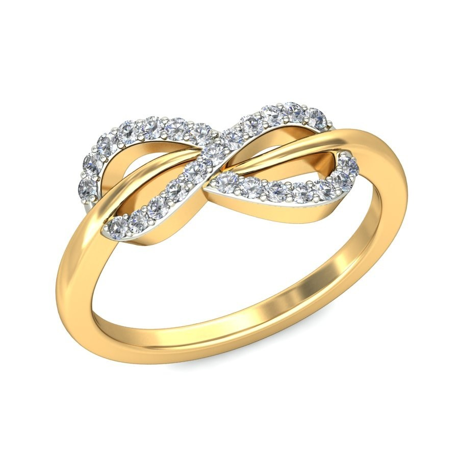 Tantalizing Infinity Ring Diamond Ring 025 Carat Round Cut