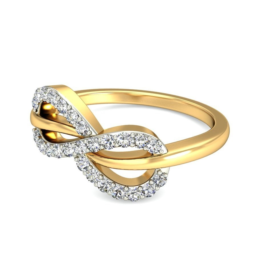 Tantalizing infinity ring diamond ring 025 carat round for Infinity design wedding ring